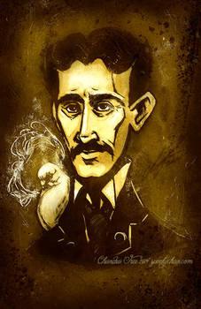 Nikola Tesla-his Fave Pigeon in Venture Bros Style