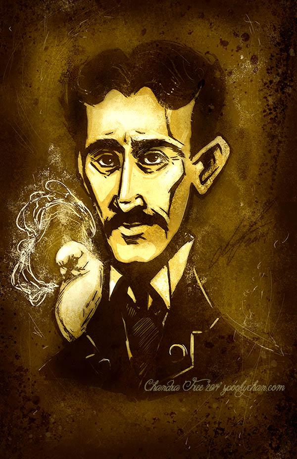 Nikola Tesla-his Fave Pigeon in Venture Bros Style by SpookyChan