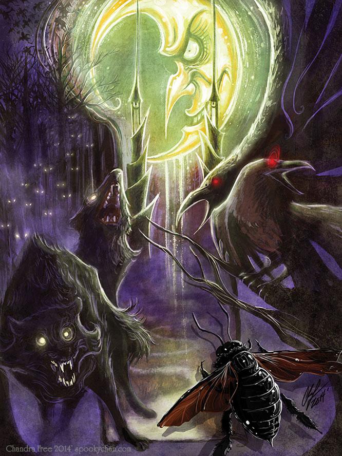 OZ- THE MOON tarot by SpookyChan