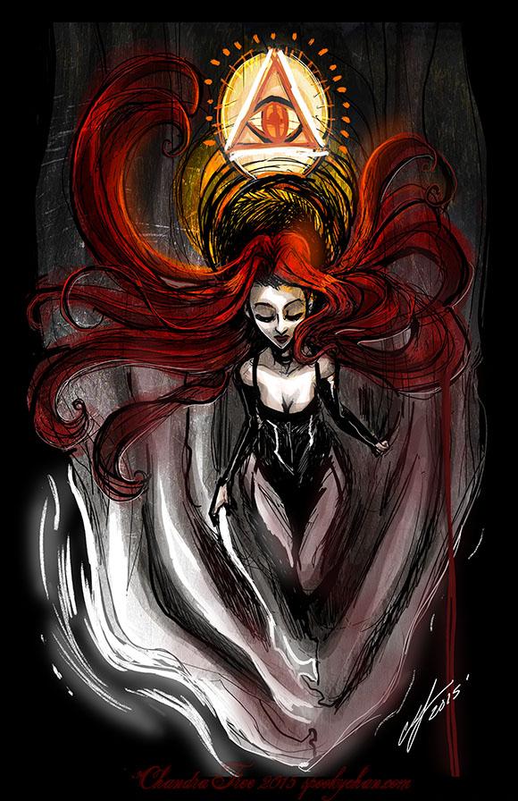 Downward Eye by SpookyChan