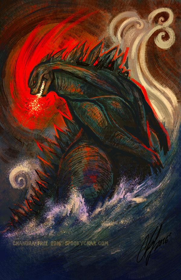 Godzilla by SpookyChan