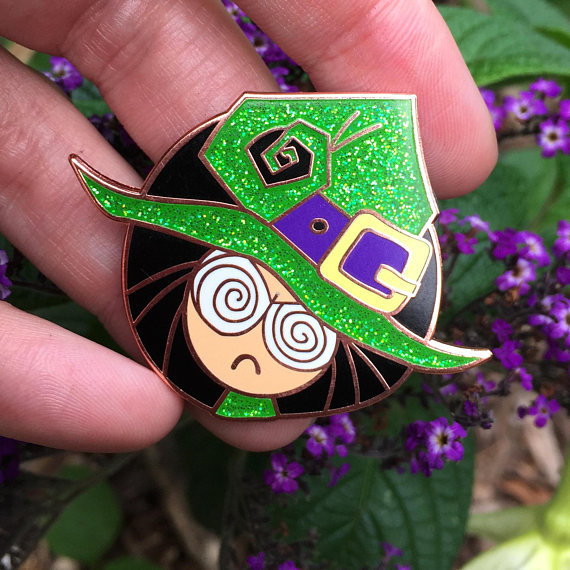 Witchy Cranky Poo Enamel Pin by SpookyChan