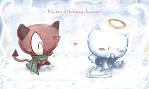 kitty holiday love [corrected] by SpookyChan
