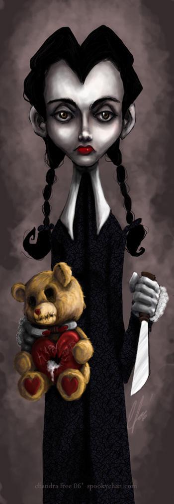 Wednesday Addams -Happy V-day- by SpookyChan