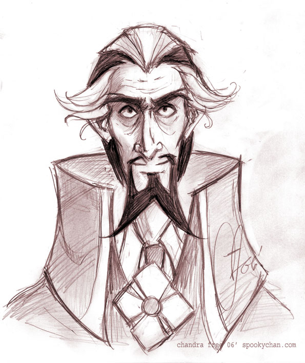 Dr. Orpheus Face Sketch by SpookyChan