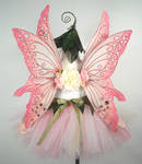 Pink Flower Fairy Back