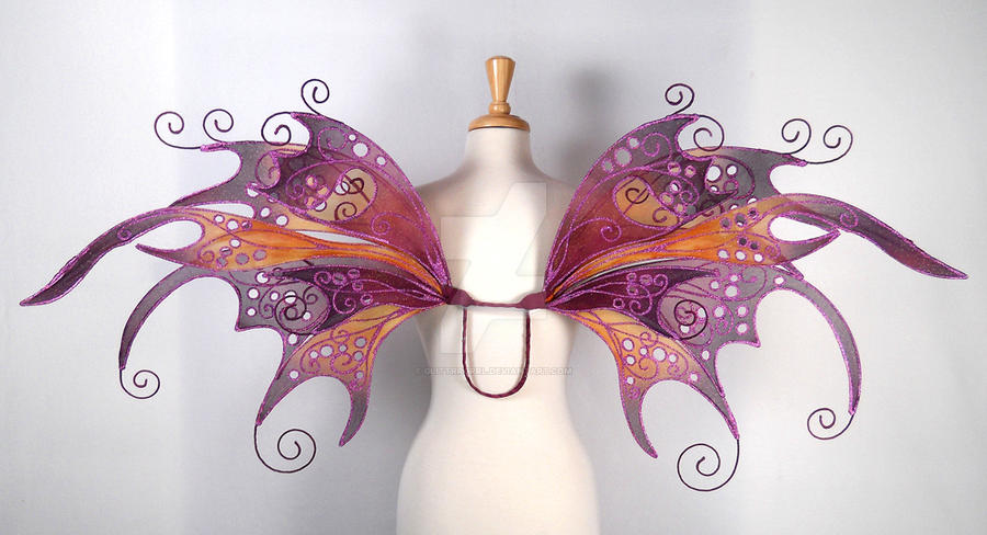 Anastasia Fairy Wings Back by glittrrgrrl