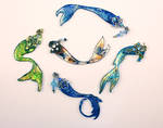 New Mermaid Tail Necklace Pendants