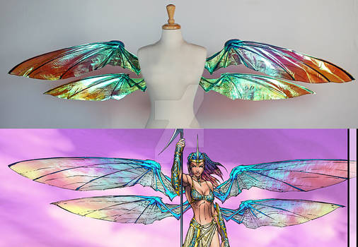 Grace wings from Soulfire Comic - Comparison
