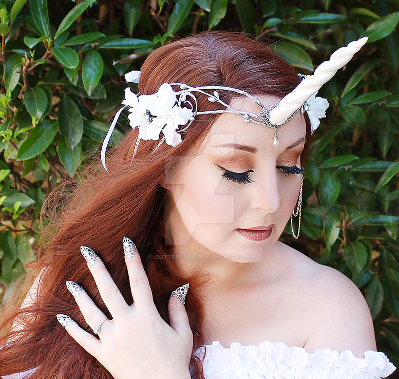 White Unicorn Crown by glittrrgrrl
