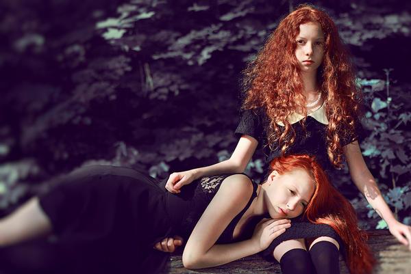 Fire sisters III by lightlanaskywalker