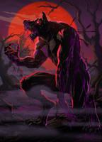 Red moon Werewolf by plamen5rov