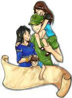 :commish redone: family by Akkai