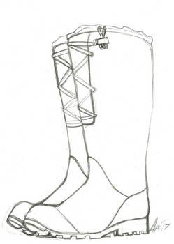 :Sketch commission: Rain Boots
