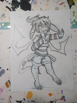 :Sketch commission:Margan