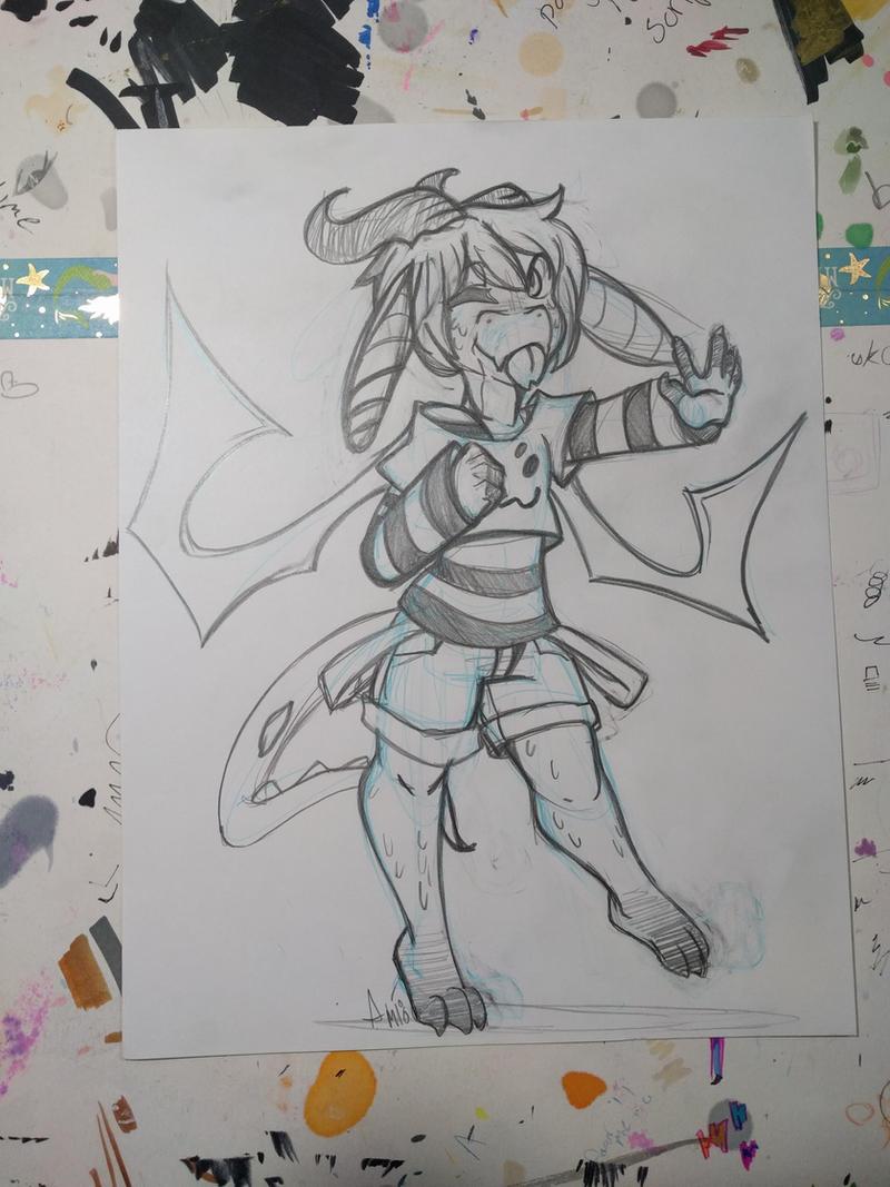 :Sketch commission:Margan by Akkai