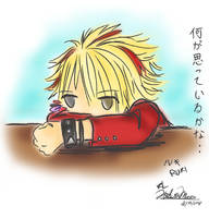 I wonder what he's thinking? by kiuuri