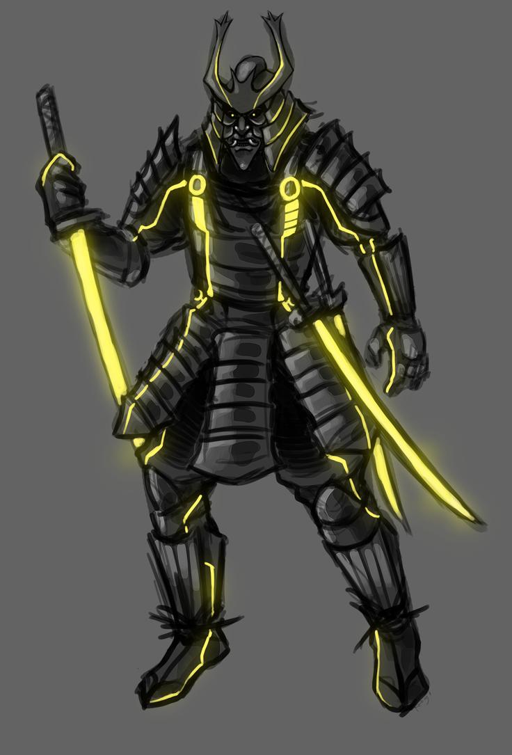 Tron - Clu Samurai by SuperKusoKao