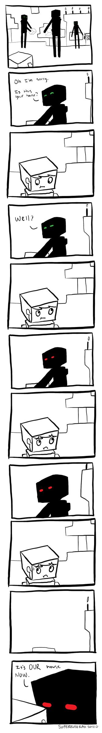 Minecraft - Endermen by SuperKusoKao