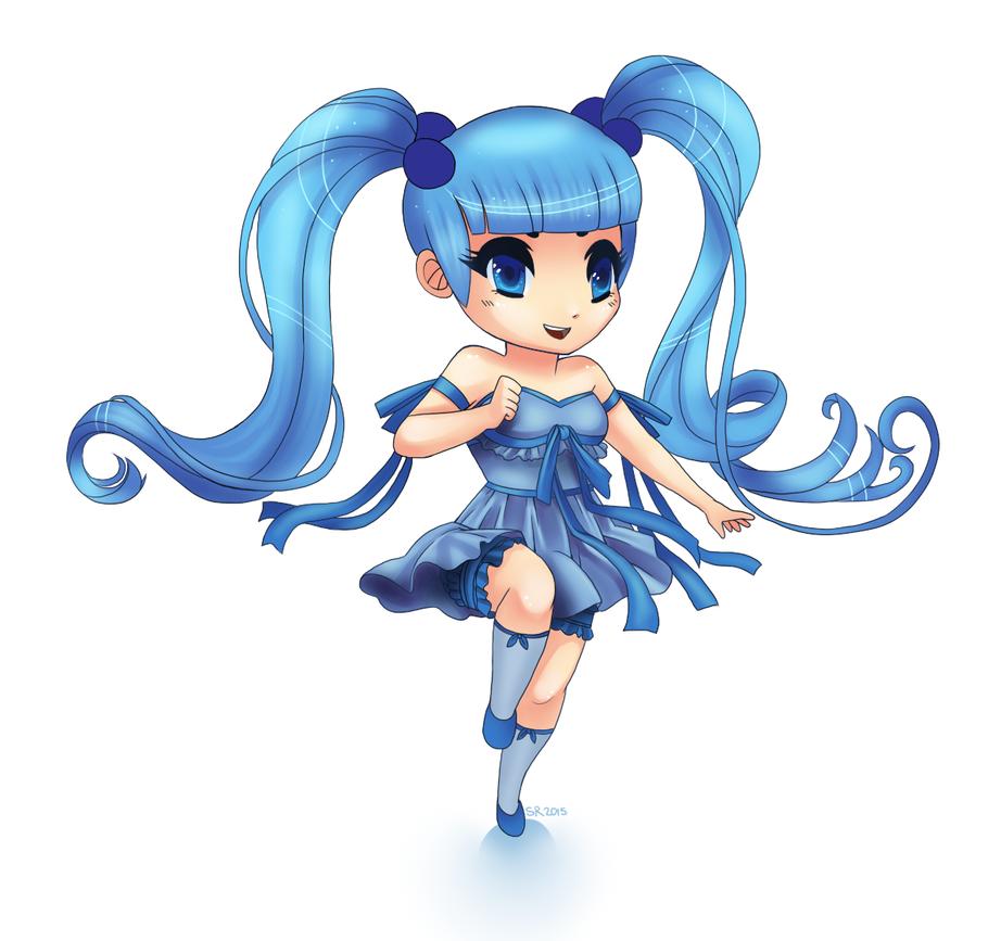 Blue Girl Chibi by SuperKusoKao