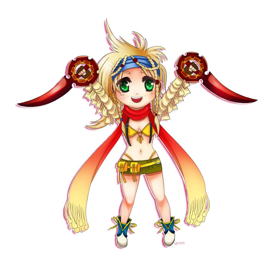 FFX-2 - Chibi Rikku by SuperKusoKao