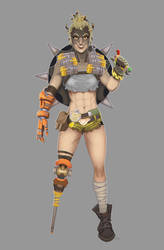 Overwatch - Lady Junkrat by SuperKusoKao