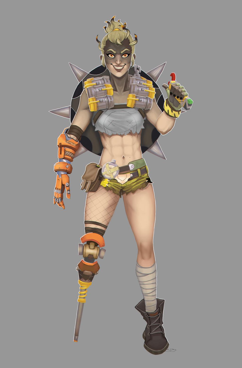 Overwatch - Lady Junkrat by SuperKusoKao