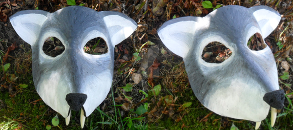 Leather Wolf Mask by Noellisty