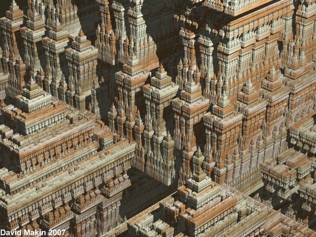 Sierpinski Temple detail by MakinMagic