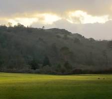 Shadowed hillside by MakinMagic