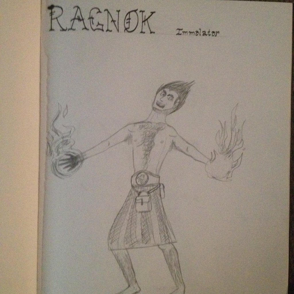 Ragnok the Immolator (Dungeon World) by SpectreSabre on