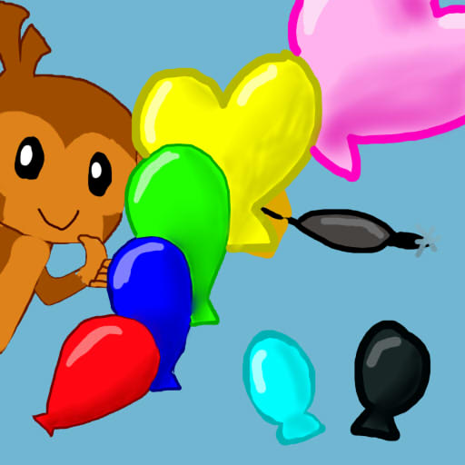 Bloons tower Defense Five Red-White Black Bloons by ~ Skypster101