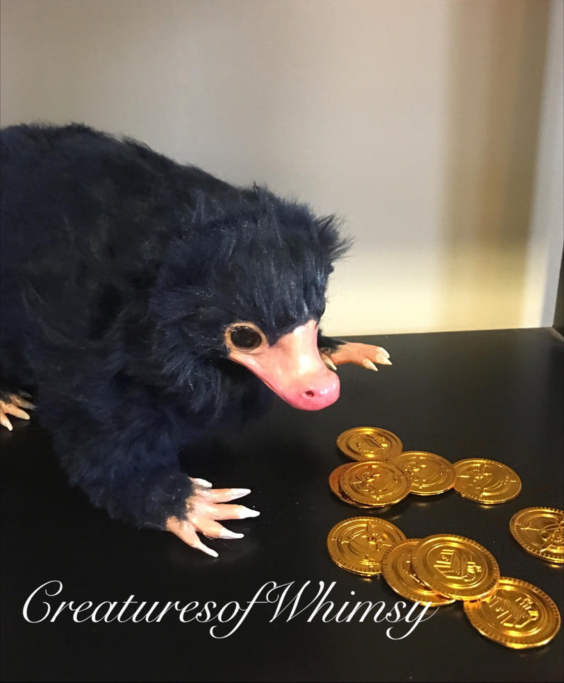 This is mine now too. (Niffler poseableartdoll) by creaturesofwhimsy