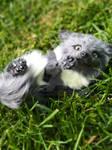 baby grey fox kit (poseableartdoll)