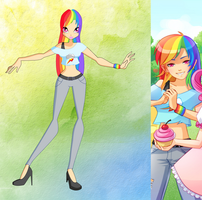 My little pony-Winx: Rainbowdash by winxgh