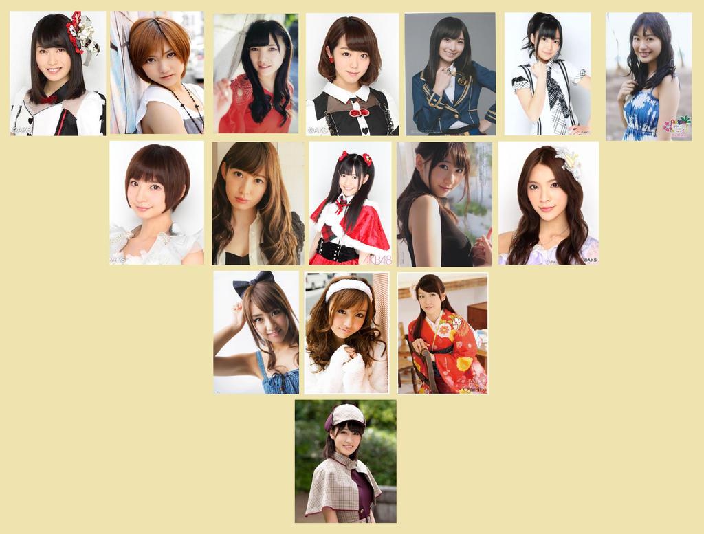 My Favorite AKB48 Group Members by winxgh on DeviantArt