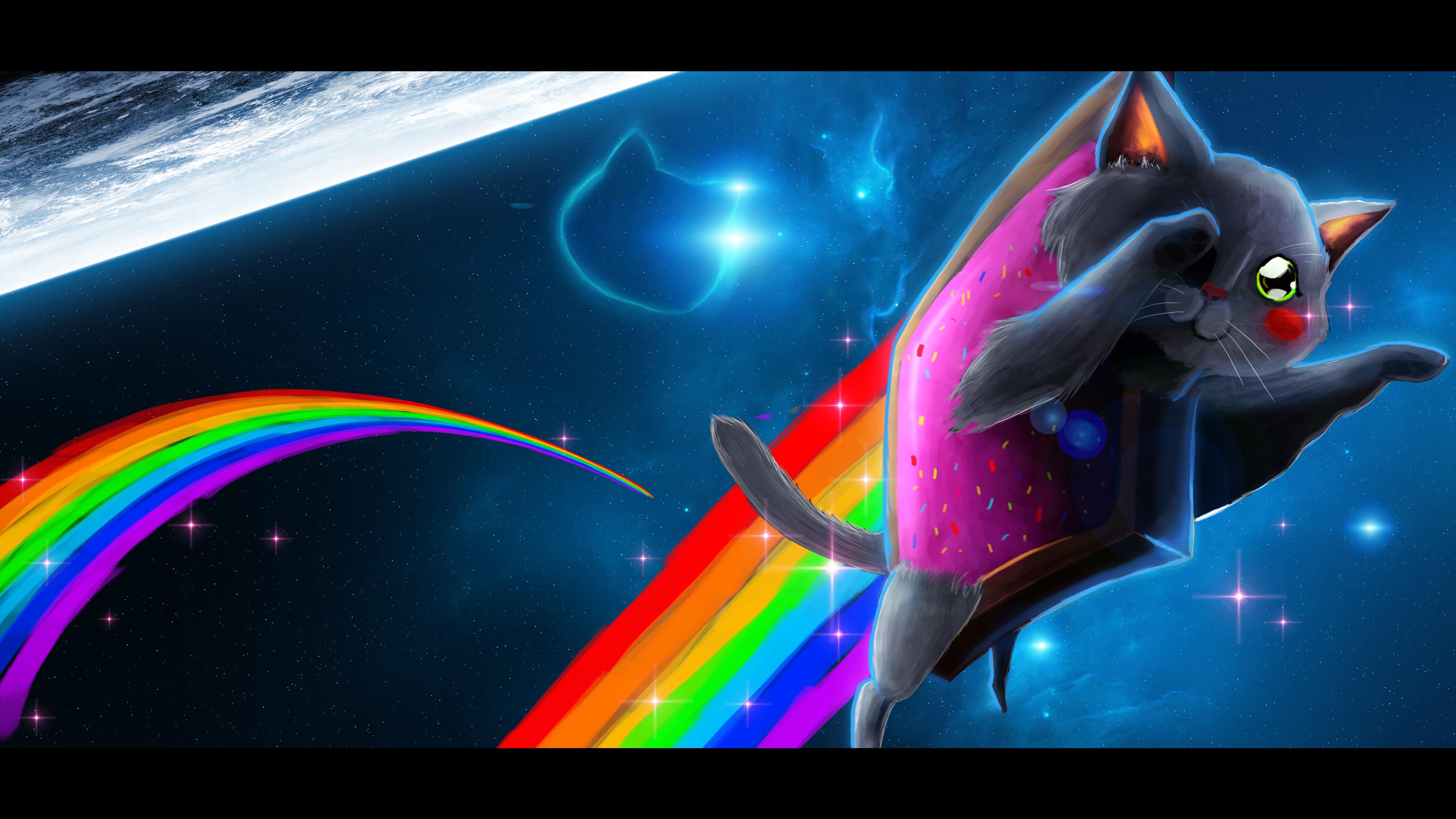 Image Gallery neon cat art