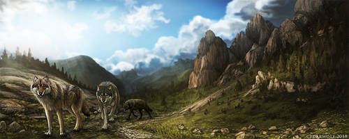 Vista ( Speedpaint by CedarWolf-Art