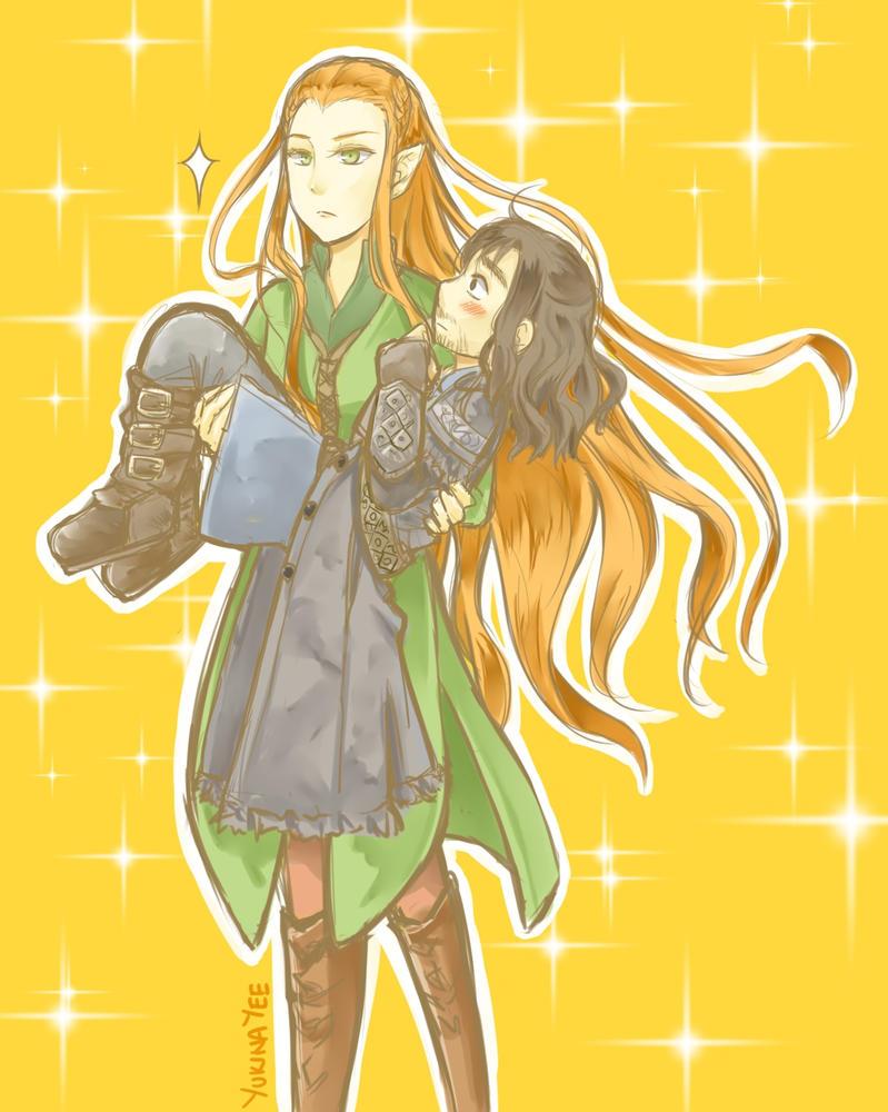 Kili and Tauriel by yukinayee