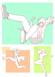 Dynamic Poses by yukinayee