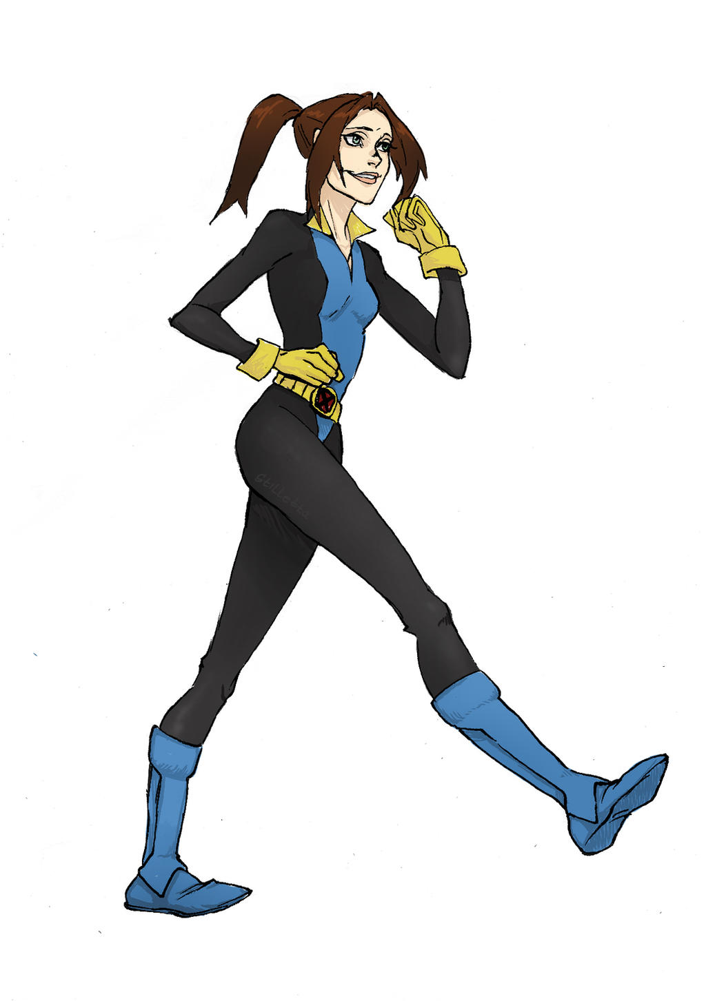 Kitty Pryde X-Men Evolution sketch by Stilletta on DeviantArt