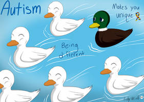 Autism Awareness by KathytheGoth