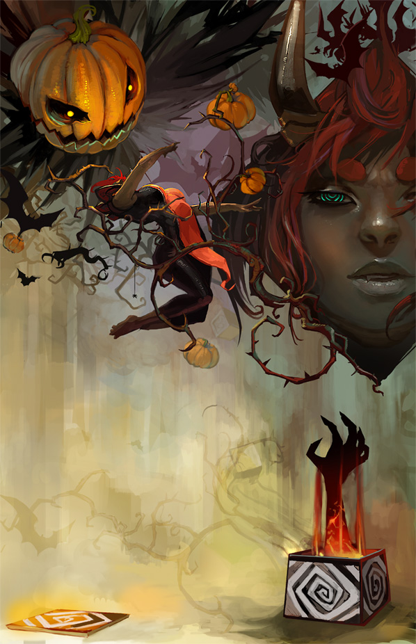 Gaia Halloween Storybook Pg 7 by JenZee