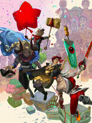 Supergiant 10 Year Anniversary Poster