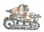 T1 Bristol Light Tank - 3 Tone Camouflage