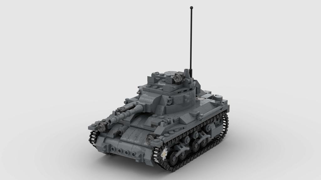 M7 Medium Tank V4 4K Render 1