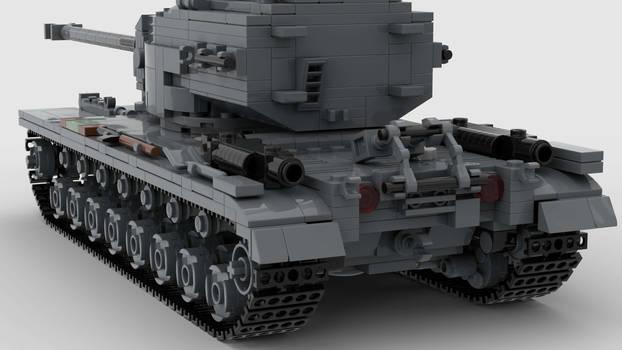 T30 Heavy Tank V1 4K Render 3