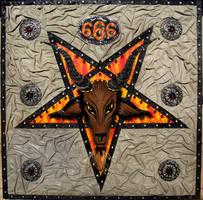Baphomet Satanic Pentagram Star of Hell by SOFIAMETALQUEEN