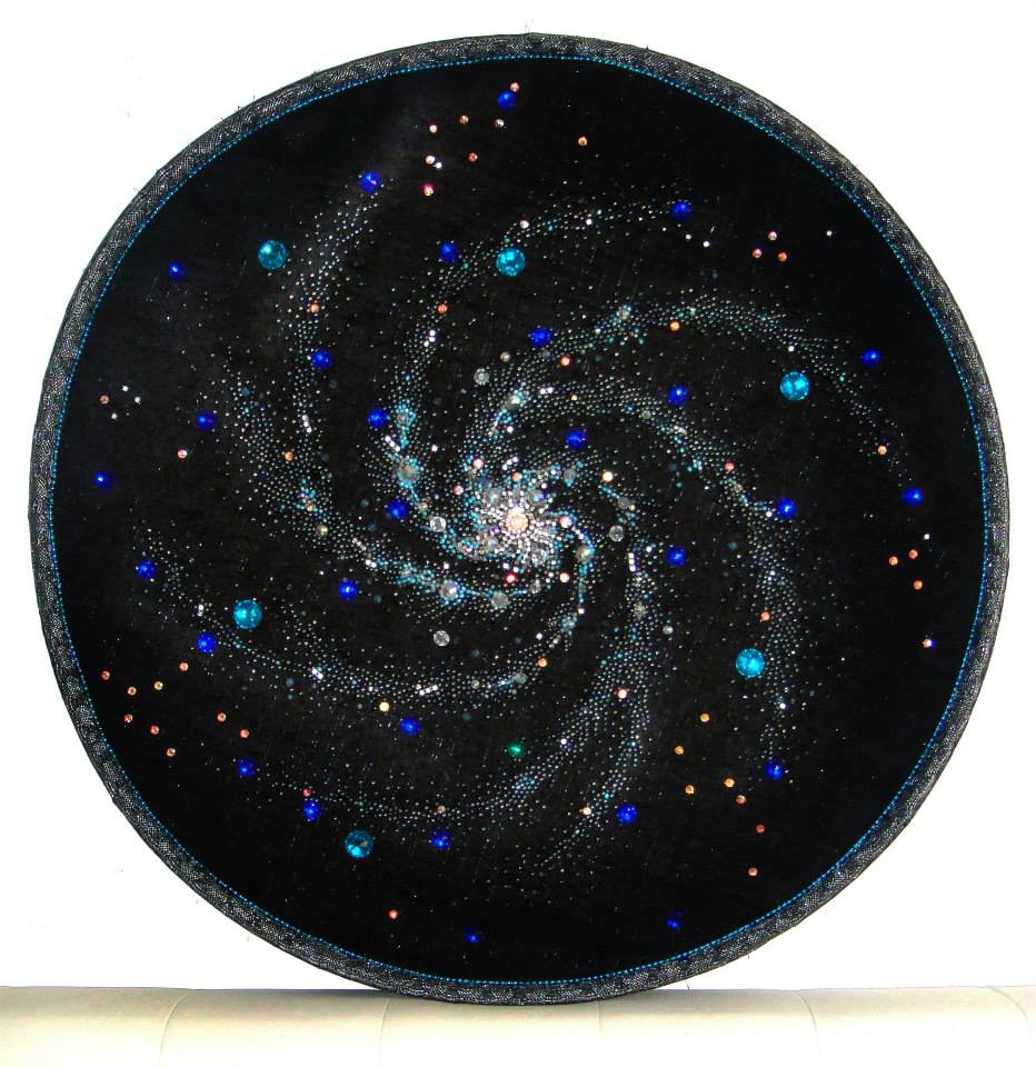 Seautiful space spiral galaxy beadwork embroidery by for Space embroidery designs