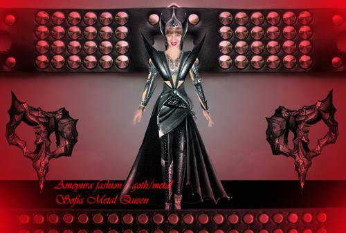 Modeling for Ameynra fashion goth metal collection by SOFIAMETALQUEEN